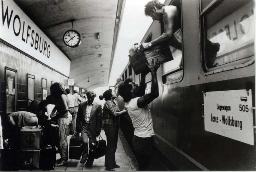 Pictures of Italian Migration to Germany (Wolfsburg)