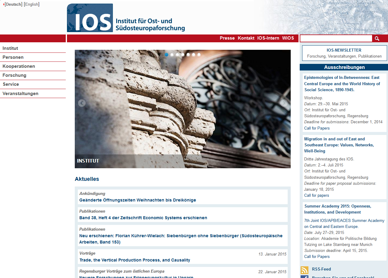 Call for Papers: the 3d IOS Annual Conference