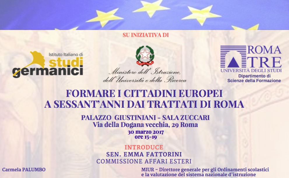 Conference – Forming European citizens in the 60 years since the signing of the Treaties of Rome