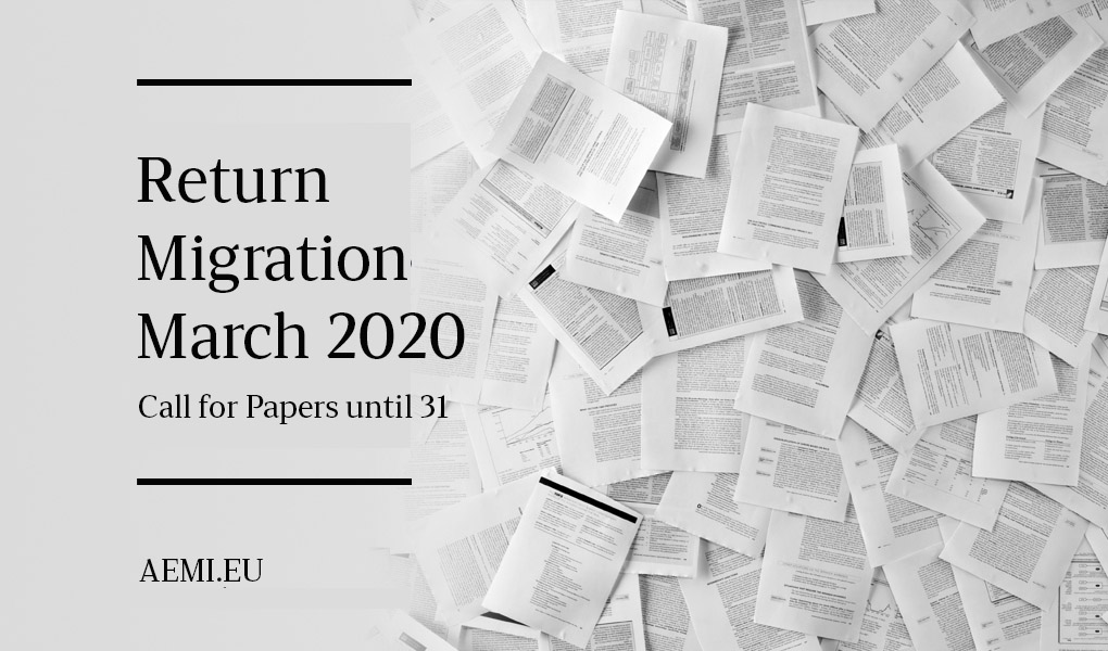 Return Migration – Call for Papers until 31. March 2020